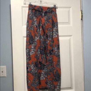 Paneled maxi skirt